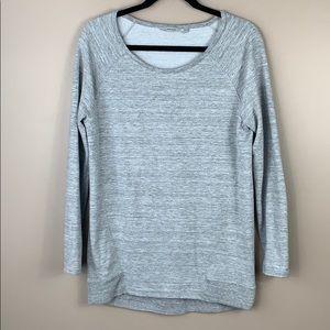 Athleta light gray super soft sweatshirt sz sm